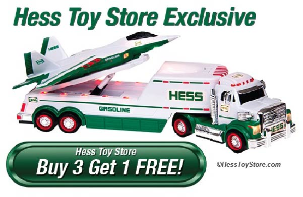 Buy 3 Hess Toy Trucks and Get 1 Free!