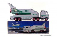 Hess 1999 Truck and Space Shuttle with Satellite