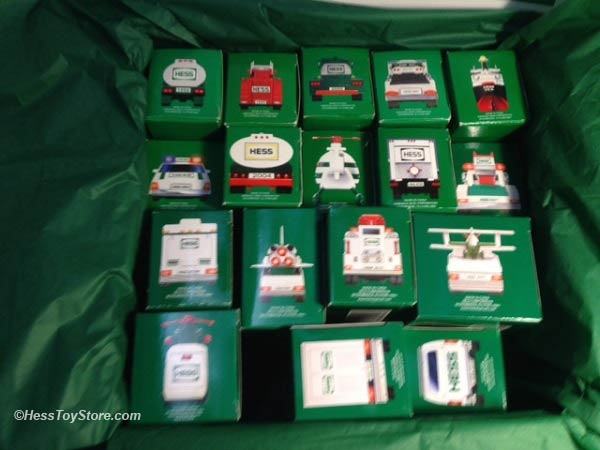 The Complete Hess Mini Toy Collection