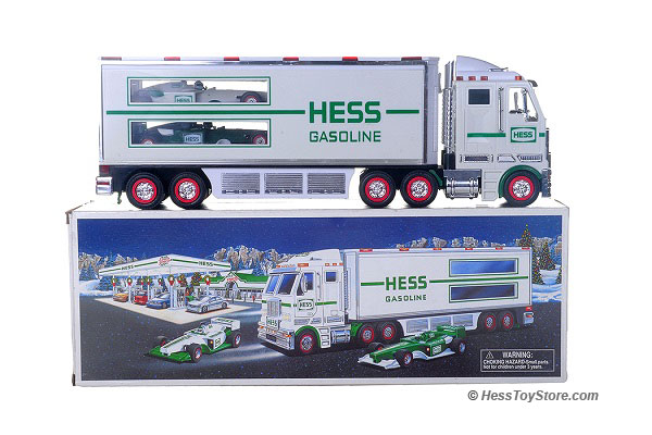 2003 HESS TOY TRUCK AND RACE CARS NEW IN BOX