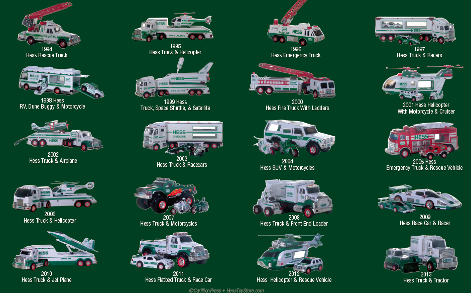 Hess Toy Truck 50th Anniversary Poster & The Hess Mini ...