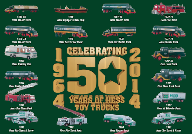 Hess Toy Truck 50th Anniversary Poster GOLD EDITION ...