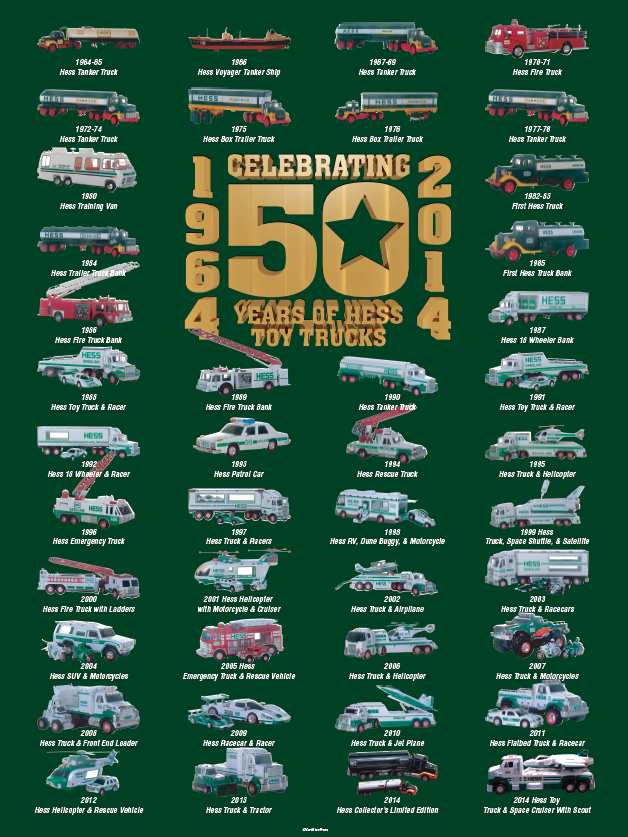 hess toy truck 50th anniversary poster the hess mini poster pair