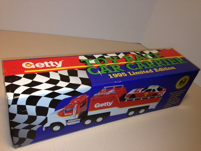 NEW TOY RACE CAR CARRIER Getty 1995 LIMITED EDITION